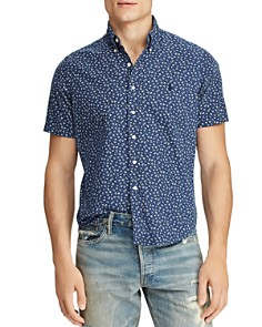 Polo Ralph Lauren - Short-Sleeve Floral-Print Classic Fit Button-Down Shirt