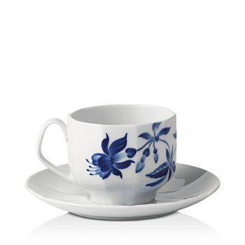 Royal Copenhagen - Blomst Fuchsia Cup & Saucer Set - 100% Exclusive