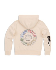 Butter - Girls' Camp Better Zip-Up Hoodie - Big Kid