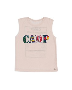 Butter - Girls' Camp Nutrition Facts Tank - Big Kid