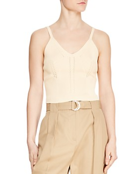 Sandro - Deynis Ribbed Camisole-Inspired Sweater