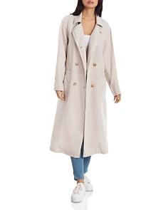 Avec Les Filles - Oversized Linen Trench Coat