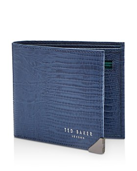 225fe3cc85bb Ted Baker - Siszip Lizard-Embossed Leather Bifold Wallet with Zip Coin  Pocket ...
