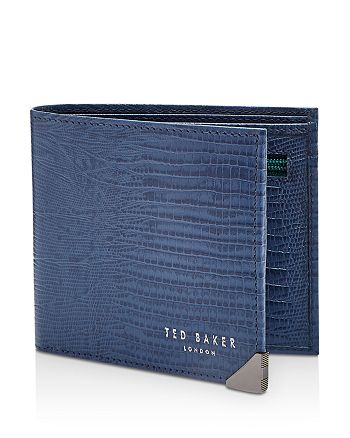 c50e6d90d963 Ted Baker Siszip Lizard-Embossed Leather Bifold Wallet with Zip Coin ...
