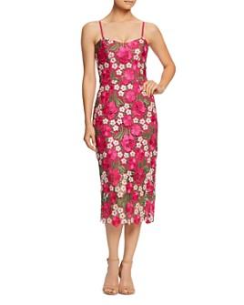Dress the Population - Alexa Floral-Embroidered Midi Dress