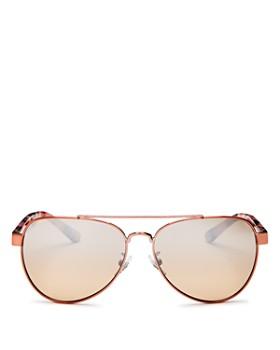 ffc581d5edab Tory Burch - Women s Mirrored Brow Bar Aviator Sunglasses