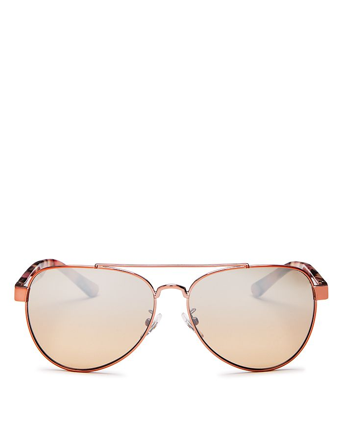2c49535ba6 Tory Burch - Women s Mirrored Brow Bar Aviator Sunglasses