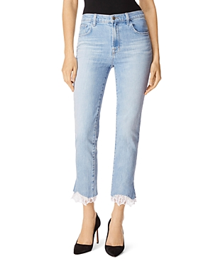 J Brand Jeans RUBY HIGH RISE CROP STOVEPIPE JEANS IN FORTUNY DESTRUCT