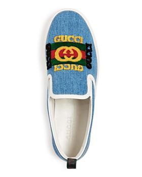 Gucci - Men's Kura Denim Slip-On Sneakers