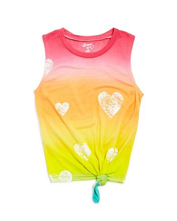 Flowers by Zoe - Girls' Tie-Dyed Knotted Muscle Tank - Big Kid