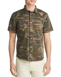 BLANKNYC - Short-Sleeve Camouflage-Print Regular Fit Shirt