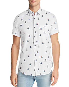 Sovereign Code - Pismo Short-Sleeve Sailboat-Print Regular Fit Shirt