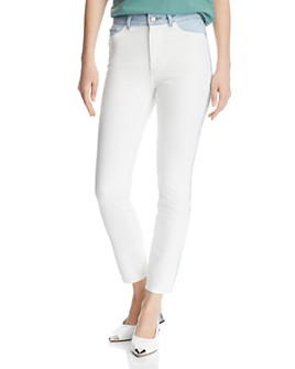 DL1961 - Farrow Color-Block High-Rise Ankle Skinny Jeans in Abis - 100% Exclusive