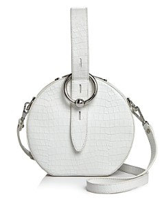 Rebecca Minkoff - Kate Croc-Embossed Leather Circle Crossbody