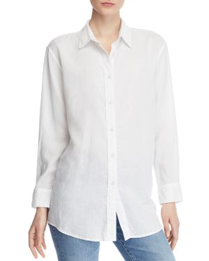 DL1961 Metropolitan Ave Button-Down Tie-Back Shirt