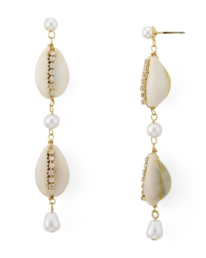 AQUA - Shell, Cultured Freshwater Pearl & Crystal Drop Earrings - 100% Exclusive