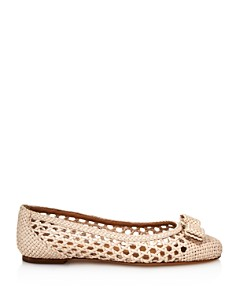 Salvatore Ferragamo - Women's Varina Woven Leather Ballet Flats