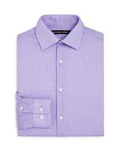 Michael Kors - Boys' Neat Textured Dress Shirt - Big Kid