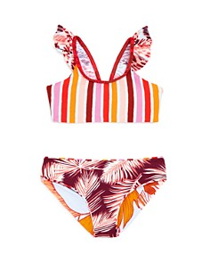 Maaji - Girls' Rainbow Bay Ruffled Two-Piece Swimsuit - Little Kid, Big Kid