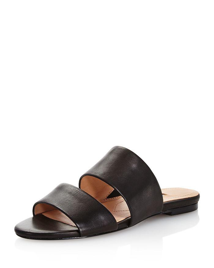 Charles David - Women's Siamese Leather Slide Sandals