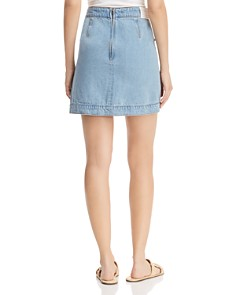 C/MEO Collective - For the Story Denim Skirt in Washed Blue