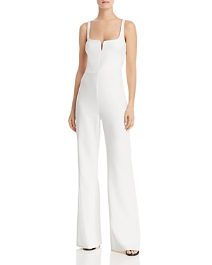 Likely Suits NOTCHED NECKLINE STRAIGHT-LEG JUMPSUIT