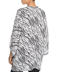 Single Thread Plus - Zebra Print Kimono Cardigan