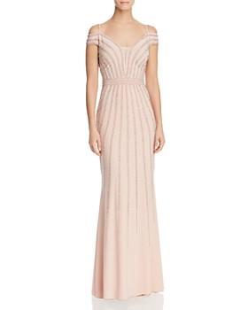AQUA - Cold-Shoulder Embellished Gown - 100% Exclusive