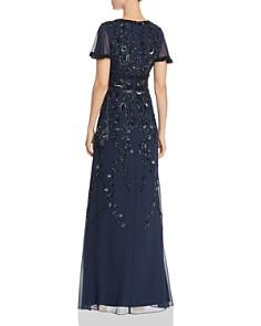Aidan Mattox - Embellished Flutter-Sleeve Gown