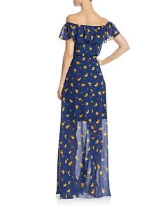 Betsey Johnson - Marigold Buds Off-the-Shoulder Maxi Dress