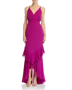 Fame and Partners - Ruffle-Trimmed Gown