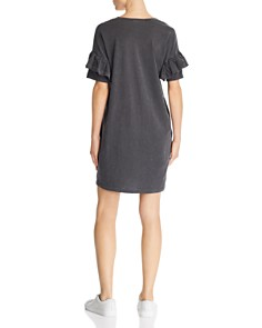 Sundry - Ruffle Sleeve Tee Dress