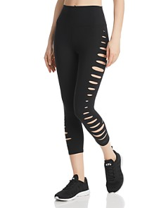 Alo Yoga - High-Waist Slice Cutout Cropped Leggings