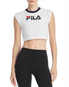 51b763ea2487 FILA - Pia Logo Cropped Tee ...