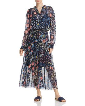 Gwyneth Botanical Print Maxi Dress by Gerard Darel