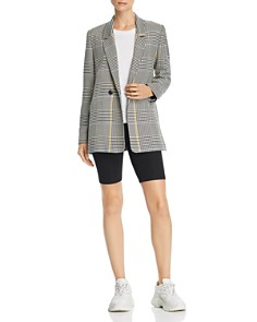 Anine Bing - Madeleine Houndstooth Double-Breasted Blazer