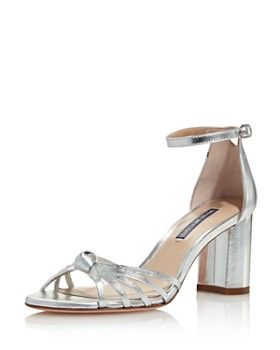 c8d2ea3be32 Stuart Weitzman - Women s Sutton Metallic Block Heel Sandals ...