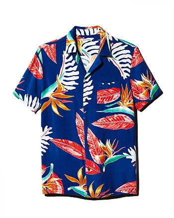 Banks Journal - Bloom Short-Sleeve Tropical-Print Regular Fit Shirt