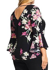 City Chic Plus - Floral-Print V-Neck Top