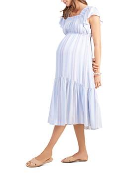 3f87e0cc4f764 Ingrid & Isabel - Maternity Flutter Sleeve Tiered Midi Dress ...