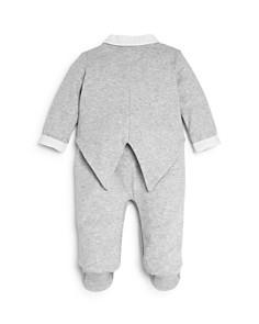 Miniclasix - Boys' Heathered Tuxedo Footie - Baby