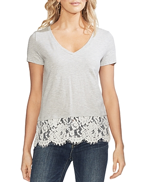 Vince Camuto Tops LACE-HEM TEE