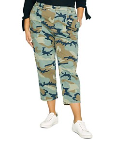 Sanctuary Curve - Peace Cropped Camo Pants
