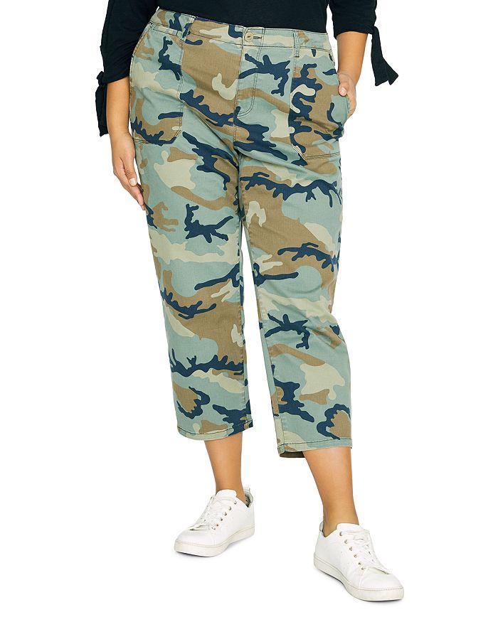 Sanctuary Curve - Peace Cropped Camo Pants