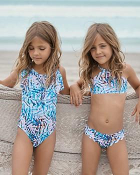 b0175f43d66f2 ... Big PilyQ - Girls' Palm Print Cutout One-Piece Swimsuit - Little Kid,  Big