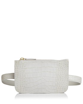 Alice.D - Croc-Embossed Rectangle Belt Bag