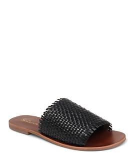 Splendid - Women's Truth Woven Leather Slide Sandals