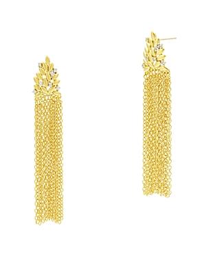 Freida Rothman Fleur Bloom Fringe Drop Earrings in 14K Gold-Plated & Rhodium-Plated Sterling Silver