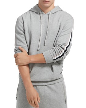 ATM Anthony Thomas Melillo - Stripe-Trimmed Hooded Sweatshirt