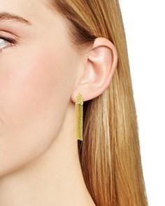 Freida Rothman - Fleur Bloom Fringe Drop Earrings in 14K Gold-Plated & Rhodium-Plated Sterling Silver